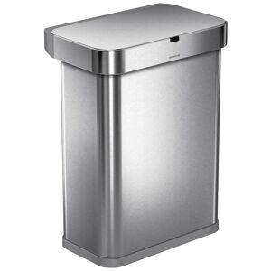 Simplehuman RECTANGULAR 58L - silver - Bezdotykový kôš